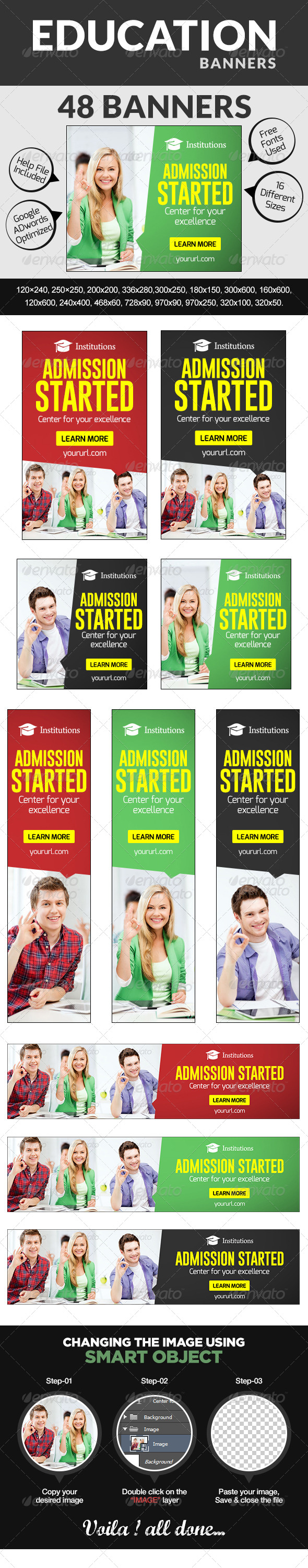 GraphicRiver Education Banners 7767704