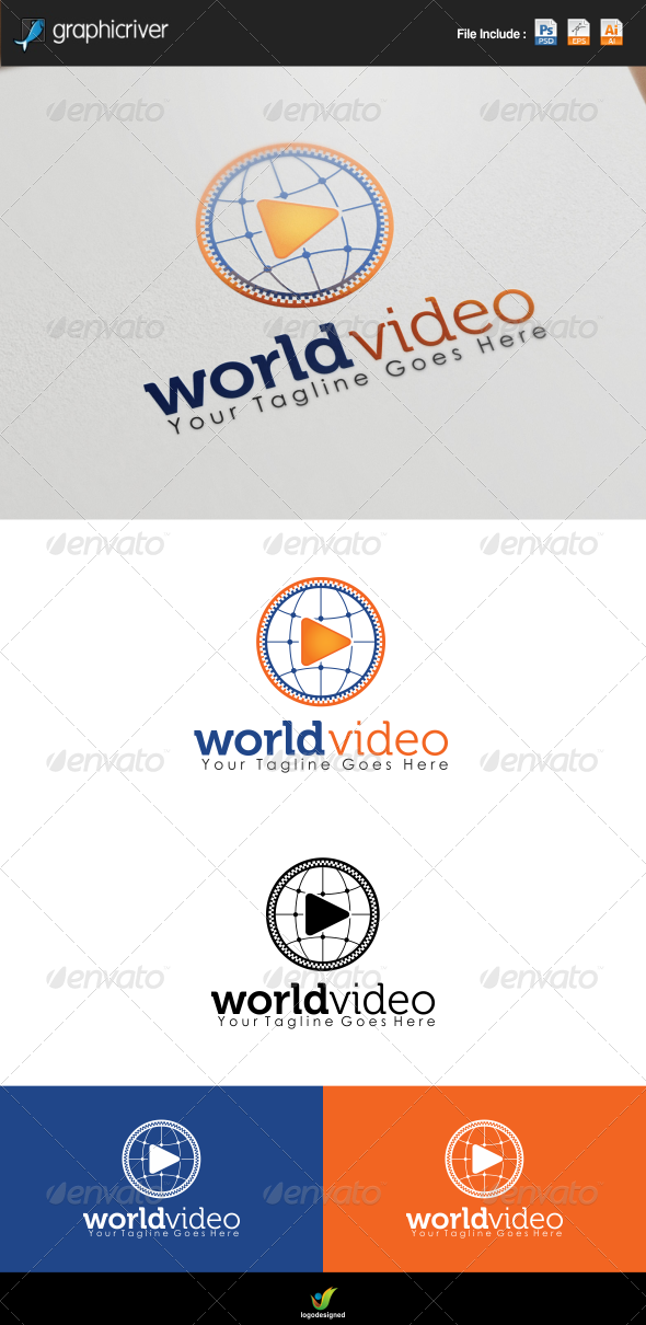GraphicRiver World Video Play Logo 7767710