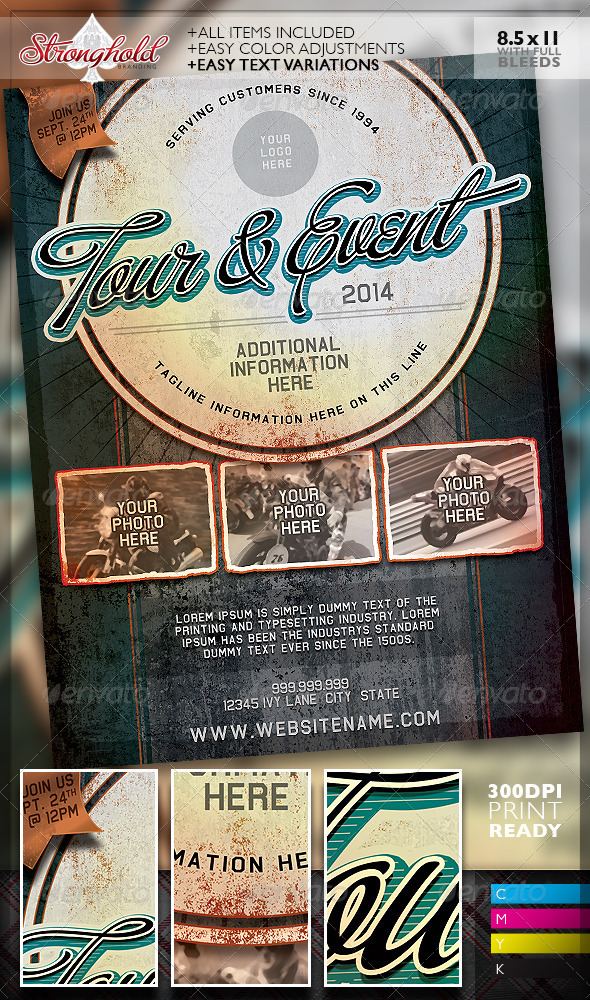 GraphicRiver Vintage Grunge Auto Event Flyer Template 7767771
