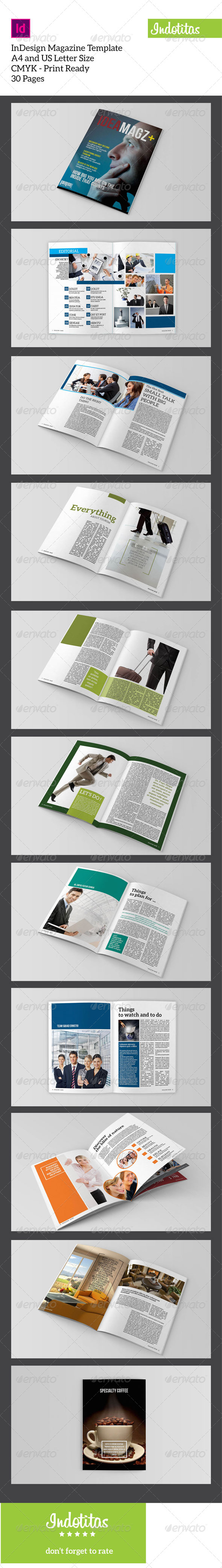 GraphicRiver InDesign Magazine Template 7767892