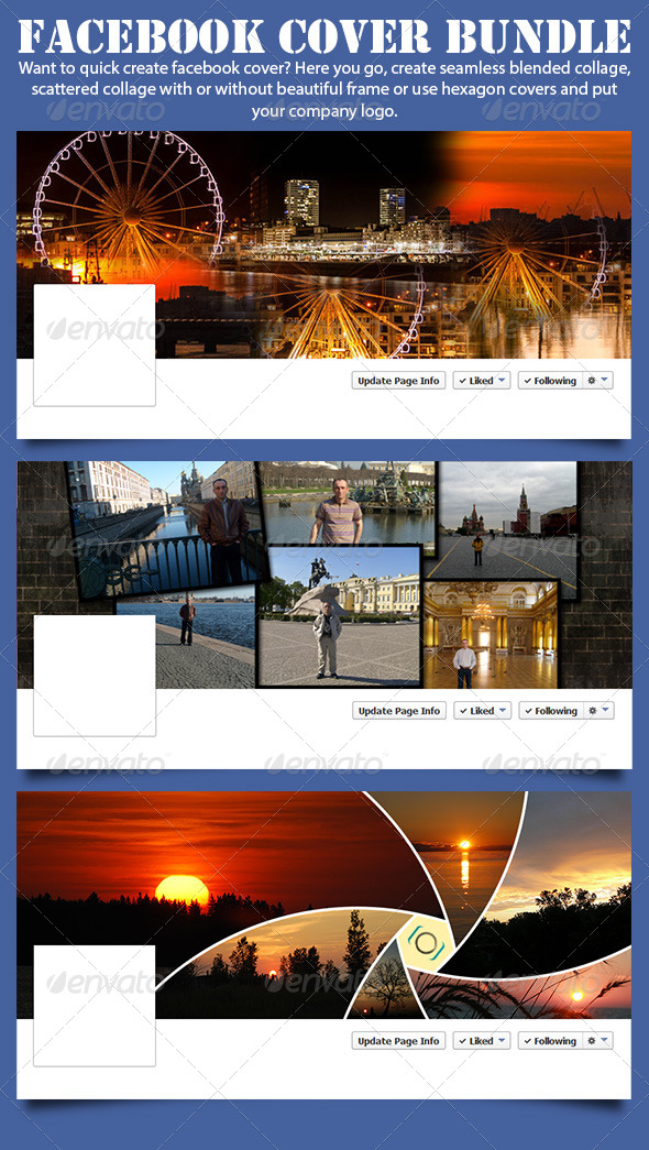 GraphicRiver Facebook Cover Actions Bundle 7769431