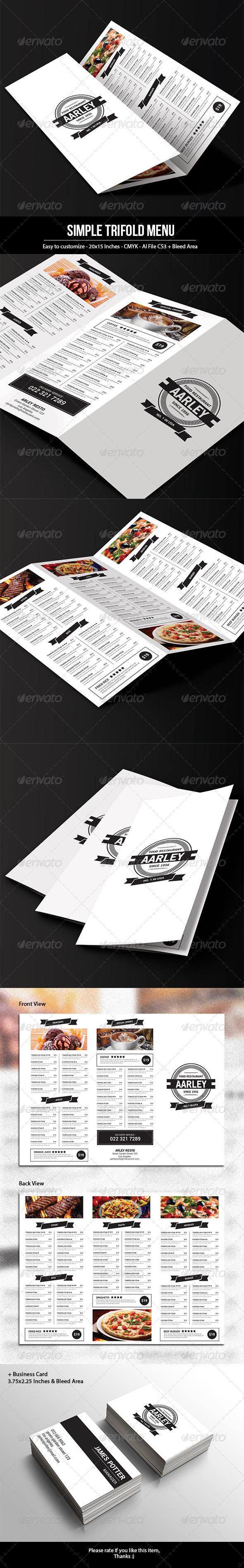 GraphicRiver Simple Trifold Menu 7769853