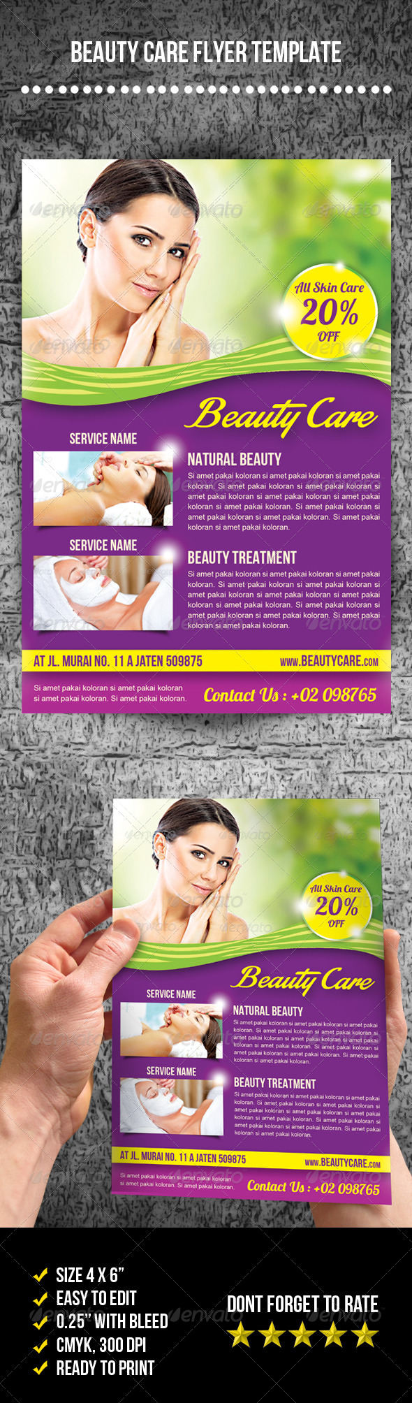 GraphicRiver Beauty Care Flyer 7769858