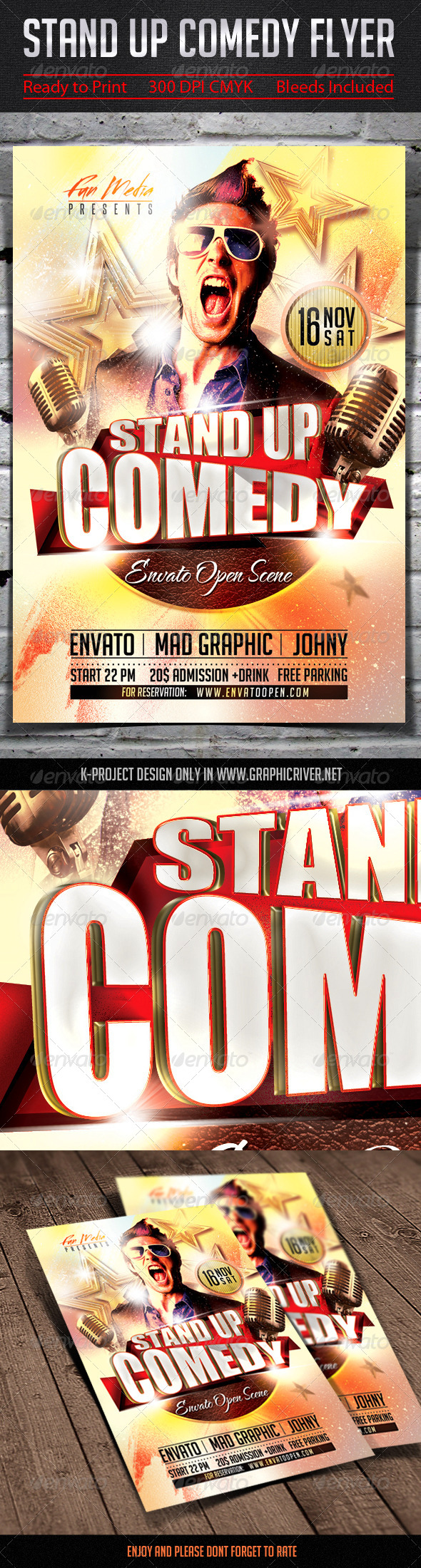 GraphicRiver Stand Up Comedy Flyer 7770251