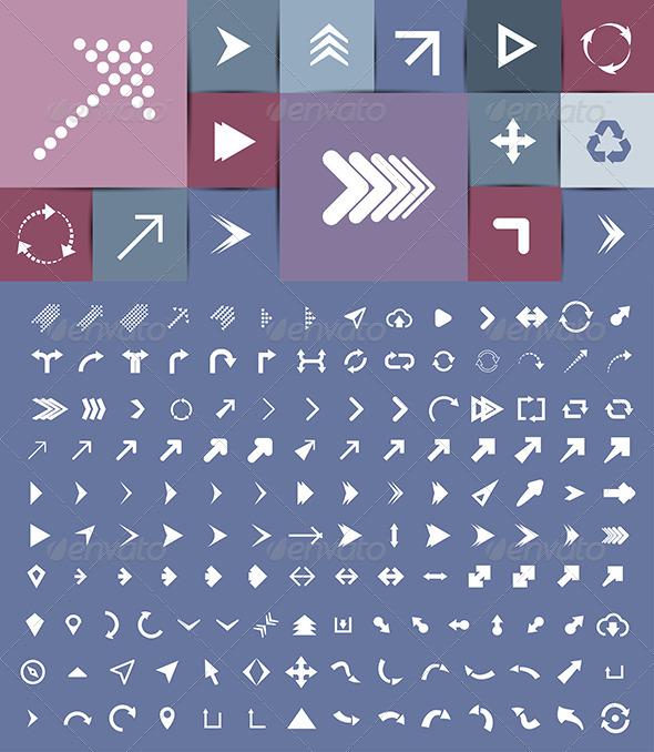 GraphicRiver 158 Arrows Set 7770266
