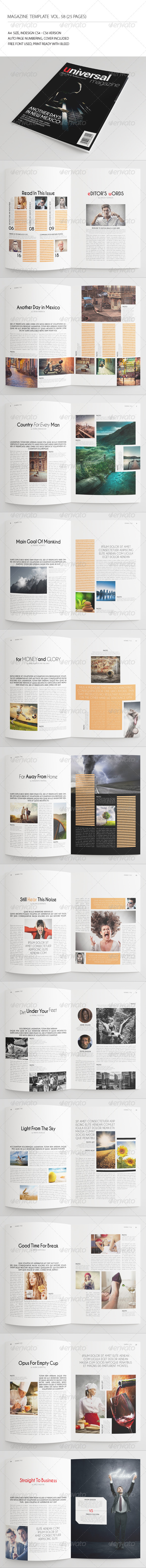 GraphicRiver 25 Pages Universal Magazine Vol58 7770391