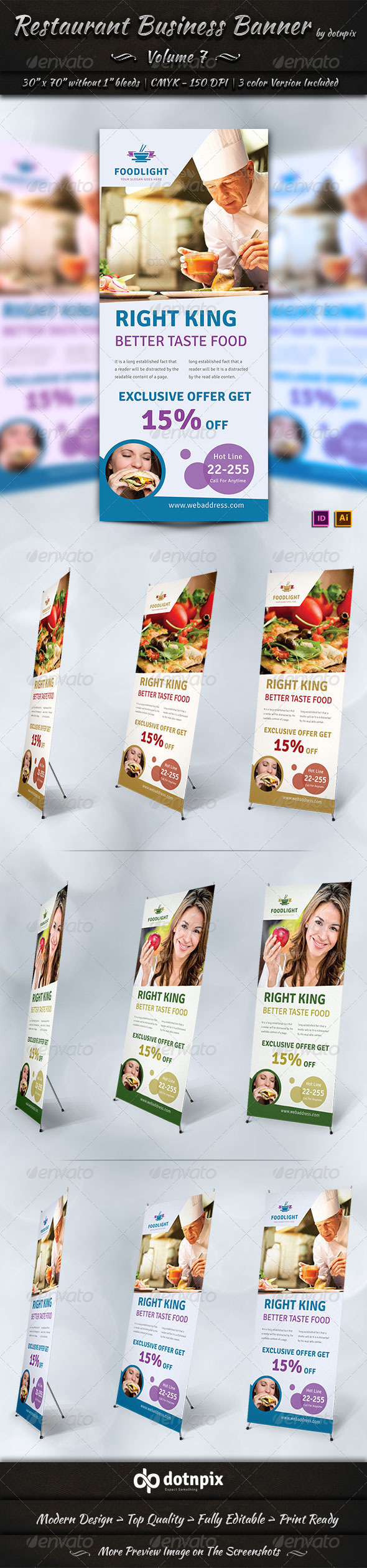 GraphicRiver Restaurant Business Banner Volume 7 7770398