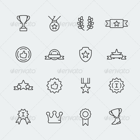 GraphicRiver Awards Icons 7770642