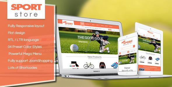 ThemeForest SJ Sport Store Responsive Joomla Template 7770659