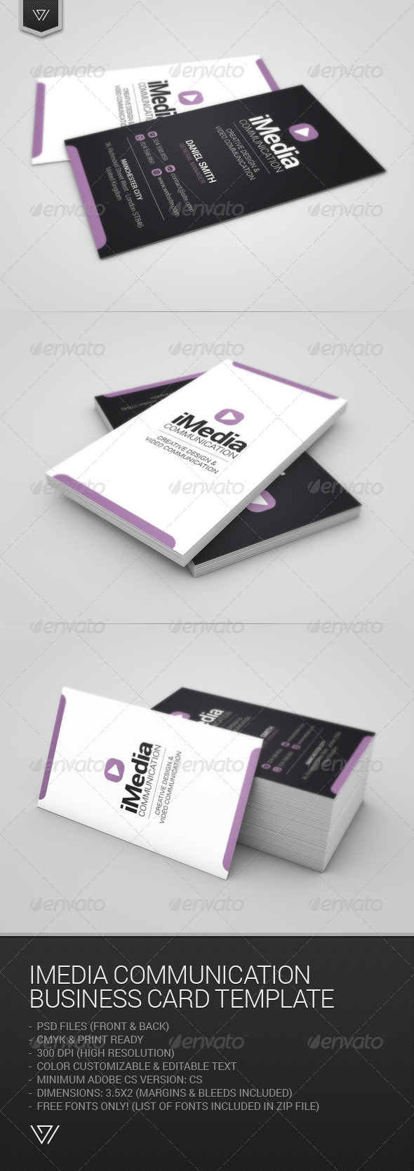 GraphicRiver Imedia Communication Business Card 7750826