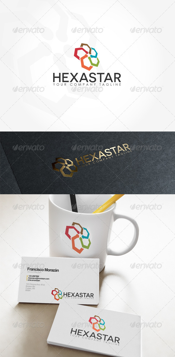 GraphicRiver Hexastar Logo 7770855