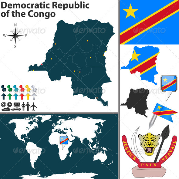Map of Dem Rep of Congo