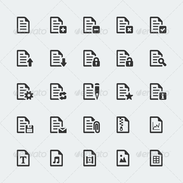 GraphicRiver Document Icons Set 7771092