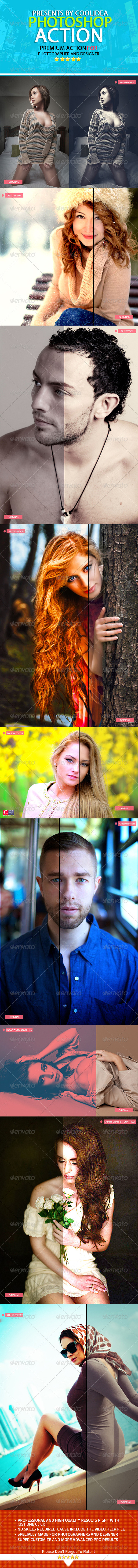 GraphicRiver Glamour & Fashion HQ Photoshop Action Pack 7771132