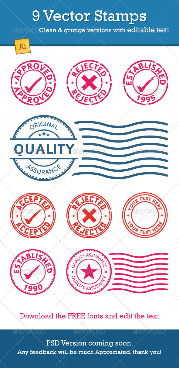 GraphicRiver Vector Stamp pack 7758901