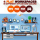 Flat Illustration of Modern Office Interior - GraphicRiver Item for Sale