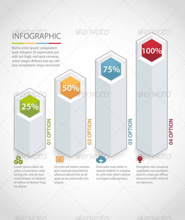 GraphicRiver Modern Box Infographic Template 7733615