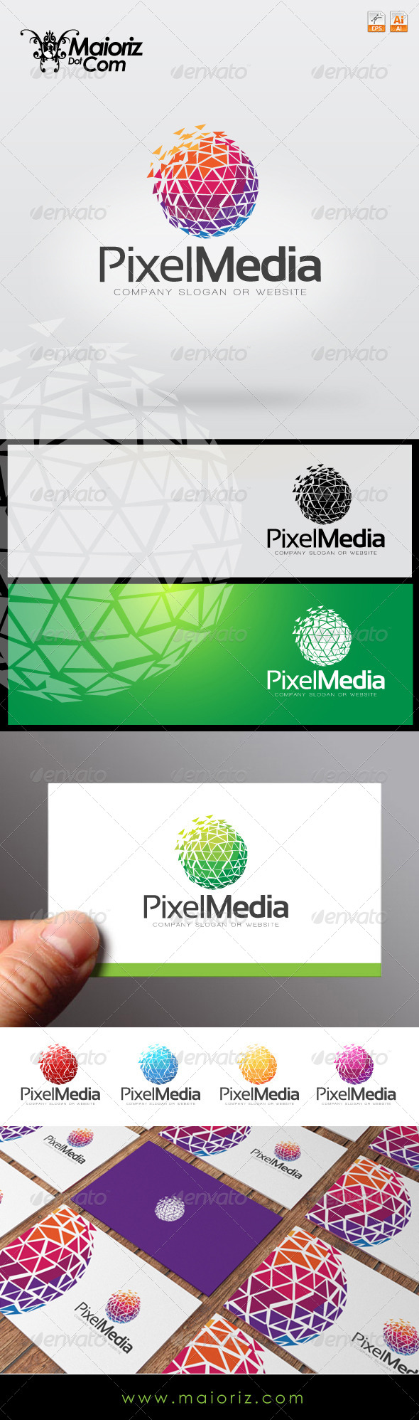 GraphicRiver Pixel Media Logo Template 7771549