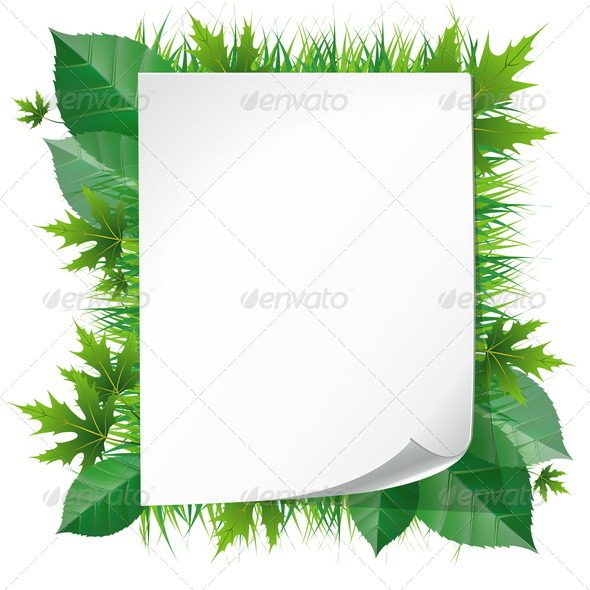 GraphicRiver Paper on Grass 7771597