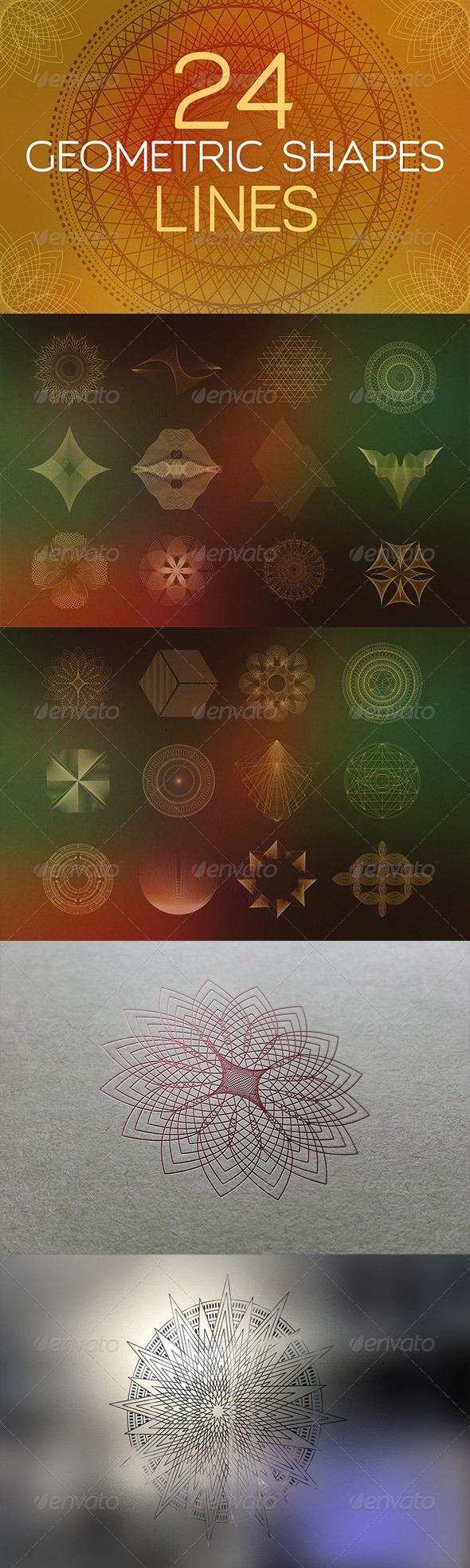 GraphicRiver 24 Geometric Shapes Lines v.1 7771641