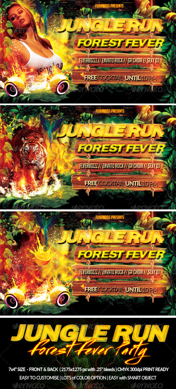 GraphicRiver Jungle Run Flyer-Front & Back 7771681