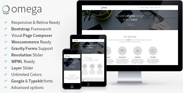 ThemeForest Omega Multi-Purpose Responsive Bootstrap Theme 7660374