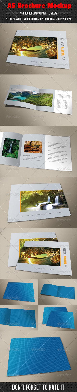 GraphicRiver A5 Brochure Mockup 7771995