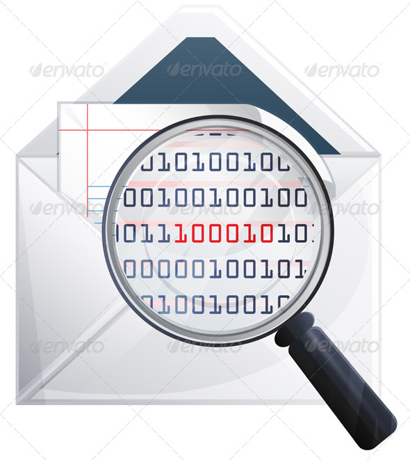 Email Scan Icon Illustration