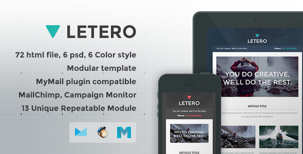 ThemeForest Letero Responsive Email Template 7772278