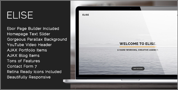 Elise - AJAX Powered One Page WordPress Theme
