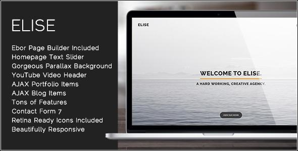 ThemeForest Elise AJAX Powered One Page WordPress Theme 7772279