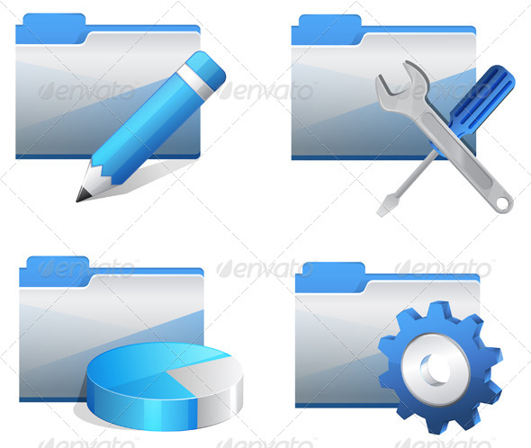 GraphicRiver Folder Icon Set Illustration 7772295