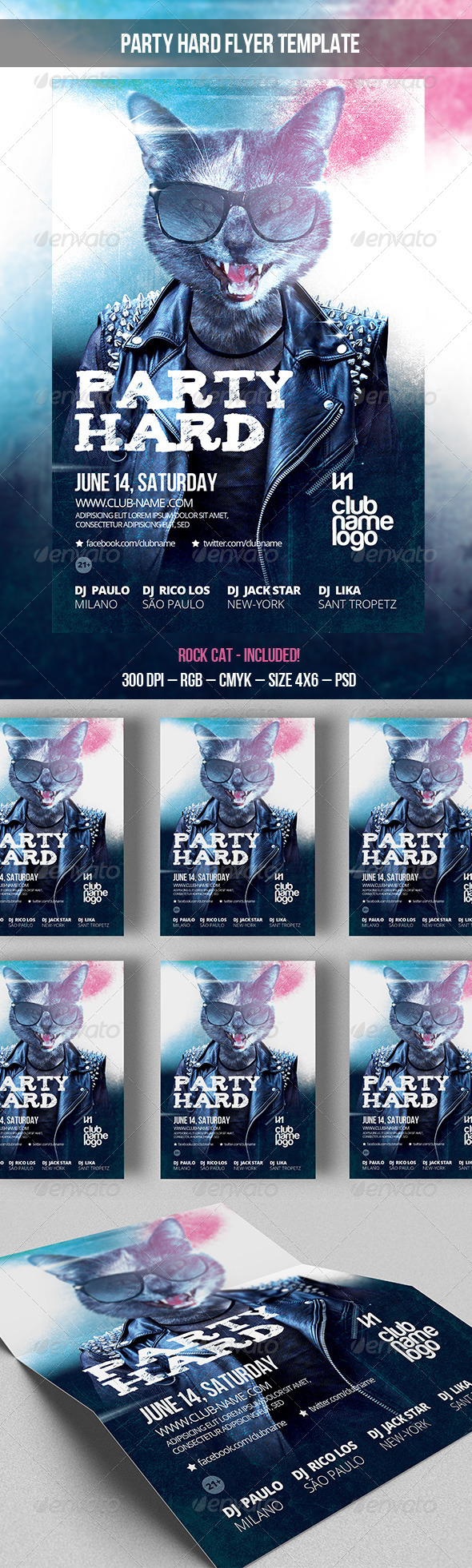 GraphicRiver Party Hard Flyer Template 7772318