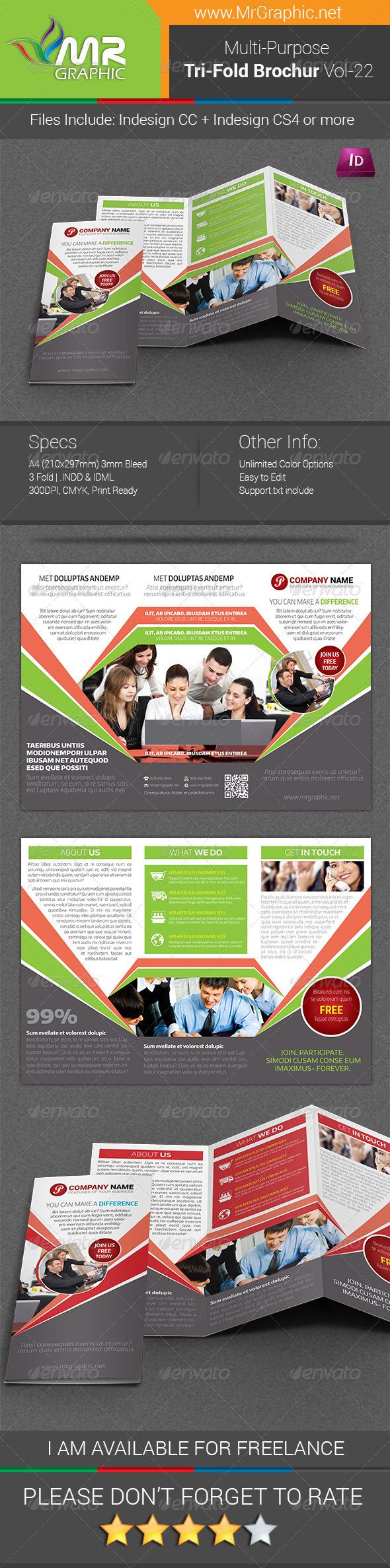 GraphicRiver Multipurpose Business Tri-Fold Brochure Vol-22 7772322