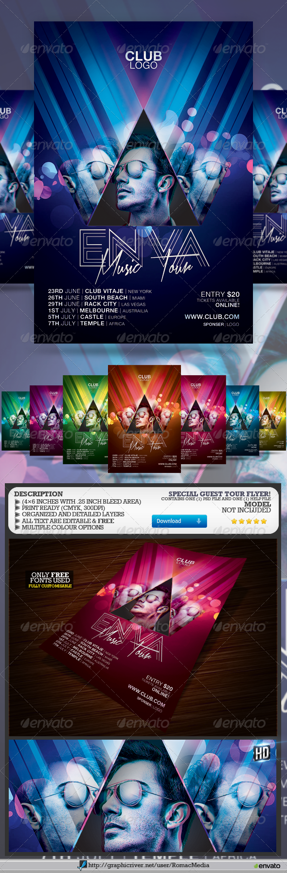 GraphicRiver Special Guest Tour Flyer 7772331