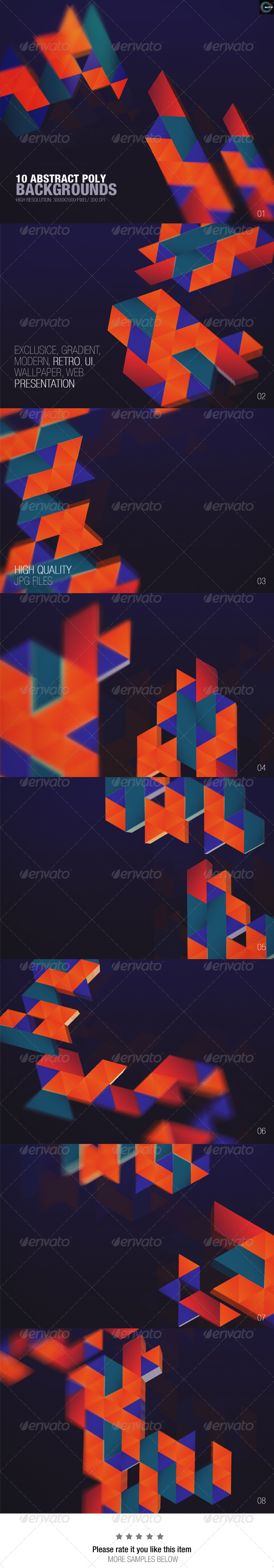 GraphicRiver Abstract Poly Backgrounds 7772382