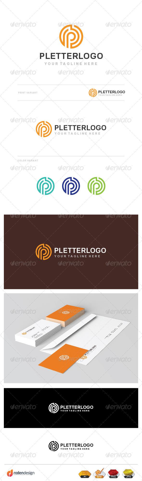 GraphicRiver P Letter Logo 7772401
