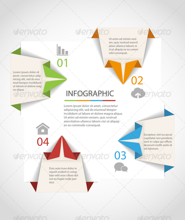 GraphicRiver Origami Infographics Template 7733158