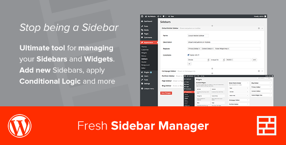 CodeCanyon Fresh Sidebar Manager 7772417