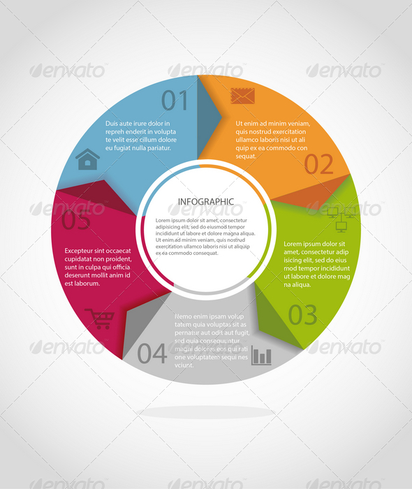 GraphicRiver Round Infographics Concept 7733126