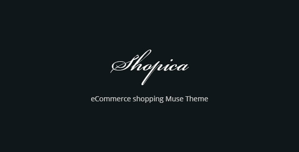 Shopica eCommerce Shopping Muse Template - eCommerce Muse Templates