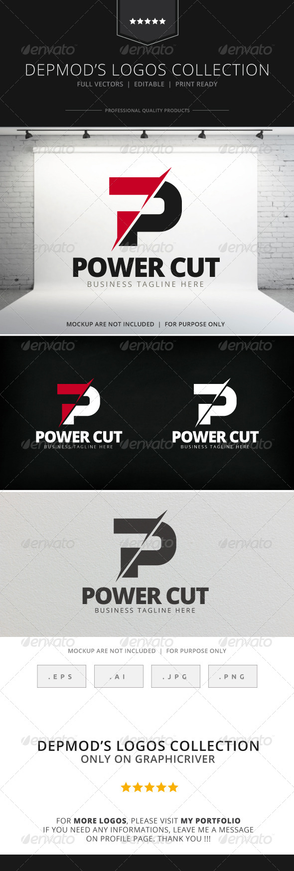 GraphicRiver Power Cut Logo 7772759
