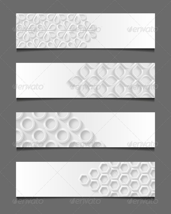 GraphicRiver Set of Abstract Modern Banners 7772794