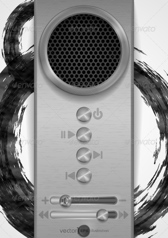 GraphicRiver Abstract Speaker Concept Design 7772889