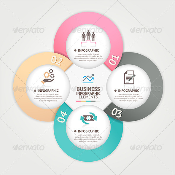 GraphicRiver Modern Business Circle Infographic Template 7773089