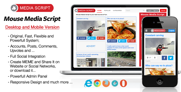 CodeCanyon Mouse Media Script 7773254