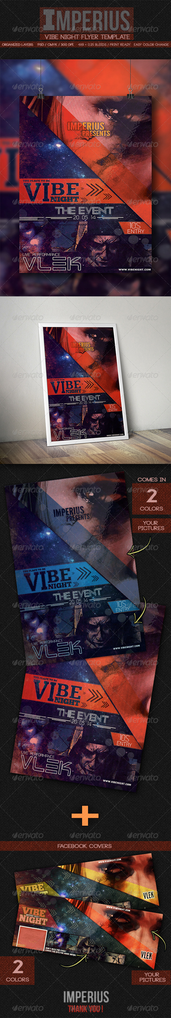 GraphicRiver Vibe Night Flyer 7773271
