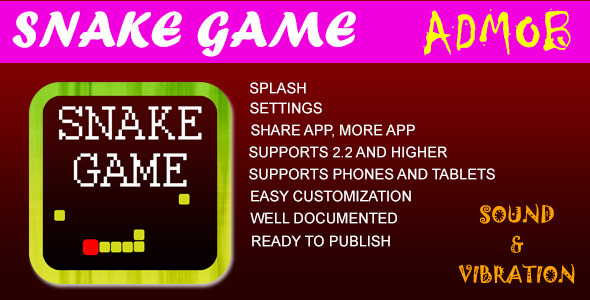 CodeCanyon Snake Game with AdMob 7773359