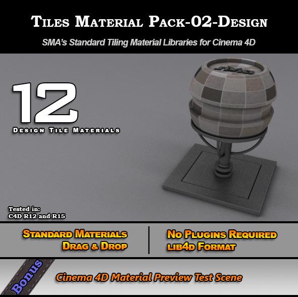 3DOcean Standard Tiles Material Pack-02-Design for C4D 7773566