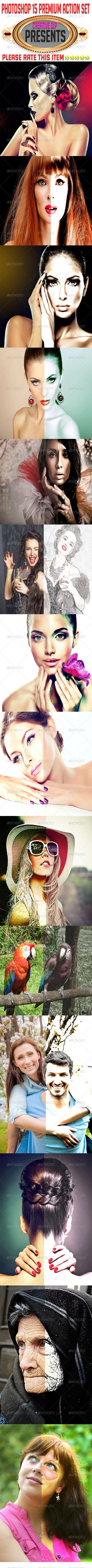 GraphicRiver Photoshop 15 Premium Action Set 7773605